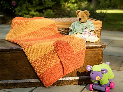 Winsford Stroller Blanket Knitting Pattern by Wyndlestraw Designs - www.wyndlestrawdesigns.com