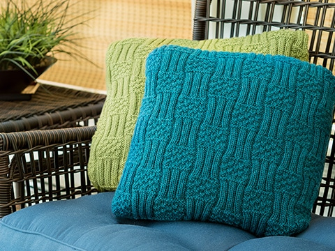 Hyland Cushions Knitting Pattern by Wyndlestraw Designs - www.wyndlestrawdesigns.com